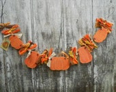 Fall Garland Primitive Pumpkin