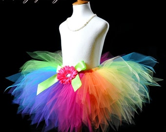 Colorful Rainbow Birthday Tutu...Rainbow Clown Tutu, Rainbow Dash Tutu...Rainbow Fairy Tutu . . . PIXIE CANDY RAINBOW