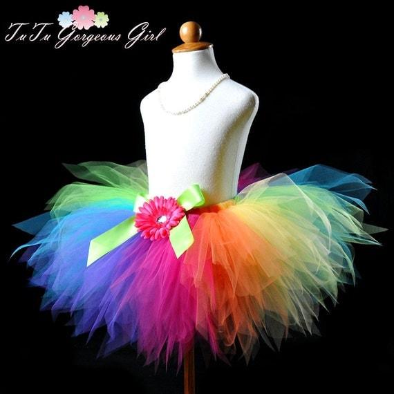 Colorful Rainbow Birthday Tutu...Rainbow Clown Tutu, Rainbow Dash Tutu...Rainbow Fairy Tutu . . . PIXIE CANDY RAINBOW