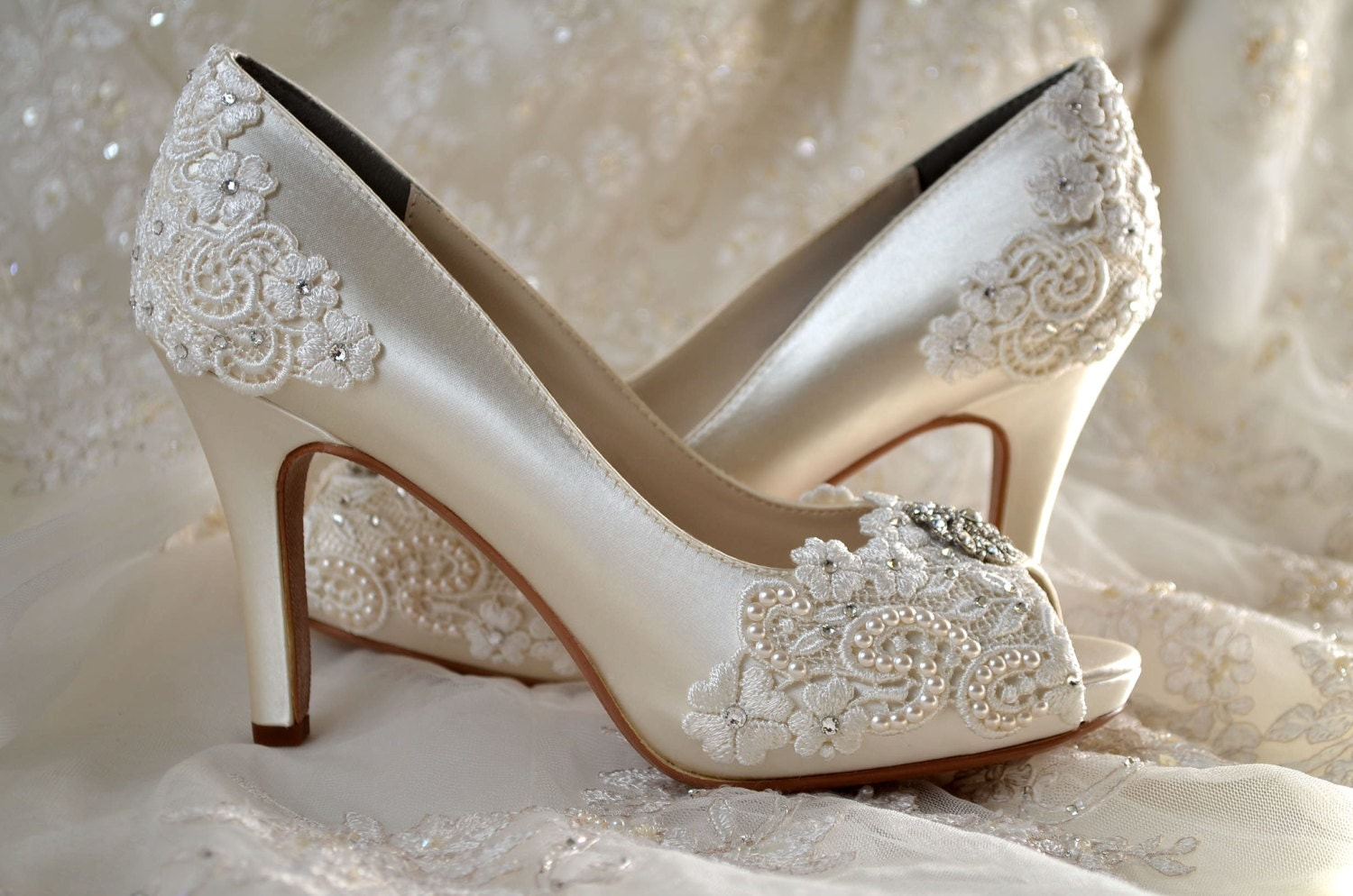 Wedding Shoes Custom 120 Color Choices PB525A Vintage