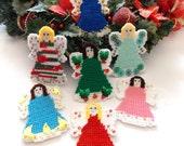 Christmas Ornament - Needlepoint Angels - 11 pc. Set