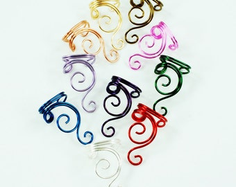 Custom Color Swirly Ear Cuff
