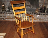 Antique Fireside Rocking Chair, Handmade, Rustic
