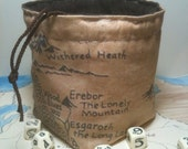 Middle Earth Map Dice Bag