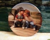 1989 Pemberton & Oakes Decorative Miniature Plate by Artist Donald Zolan - First Kiss