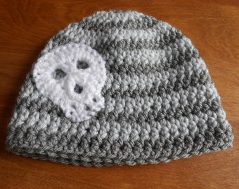 Infant-Adult Skull Hat or American Girl-type doll hat