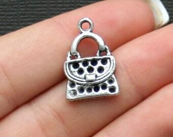 SALE 8 Purse Charms Antique  Silver Tone Detailed Little Handbags - SC1994