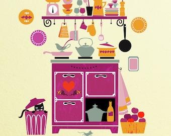 Love Kitchen-Illustration