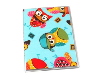 SALE Passport Cover Spring Owls