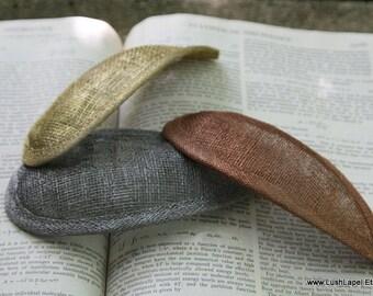 Metallic Teardrop Sinamay Fascinator Hat Base-  Silver, Gold, Copper, Pewter
