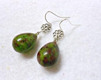 Ruby Zoisite Earrings, Gemstone Earrings