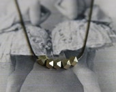 Gold Faceted Bead Necklace