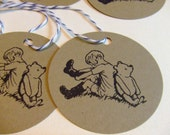 Reserved Classic Winnie the Pooh and Christopher Robin Gift Tags - Set of 19