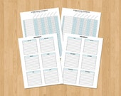 Sunday School Attendance Sheet, printable