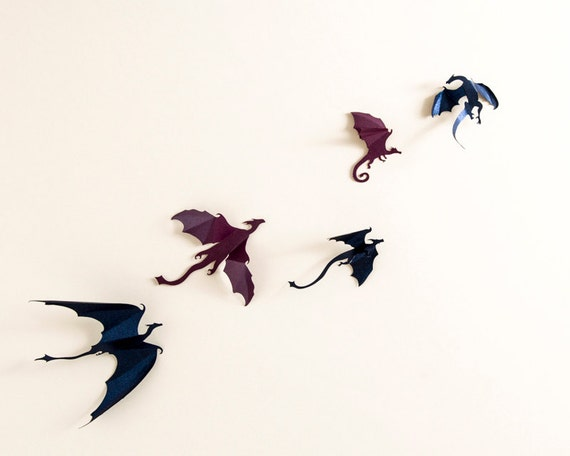 Game Of Thrones Inspired 3d Dragon Wall Art Dragon