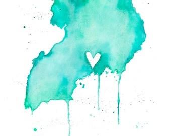 5x7 or 8.5x11 - Uganda Love