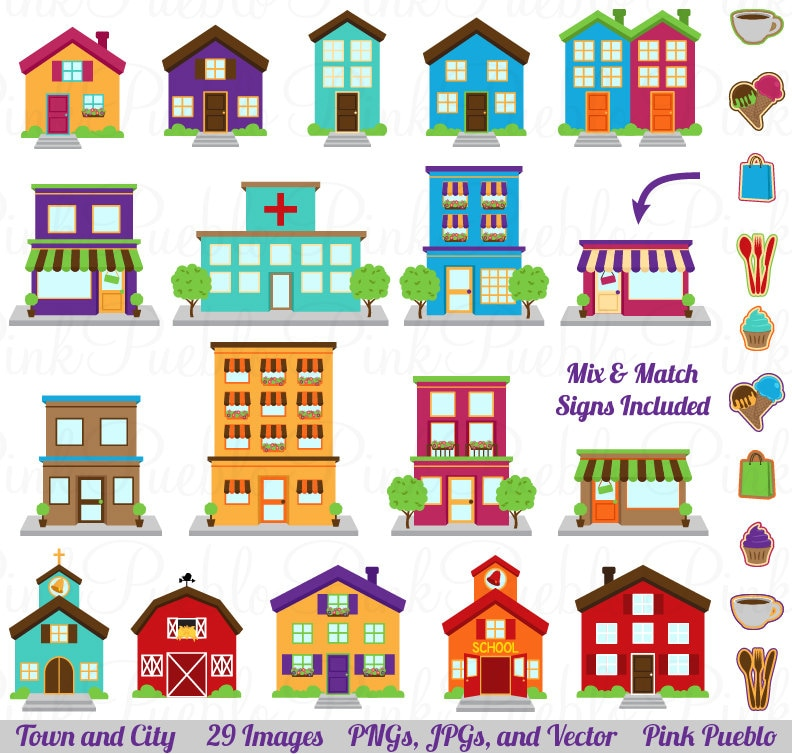 city buildings clipart - photo #20
