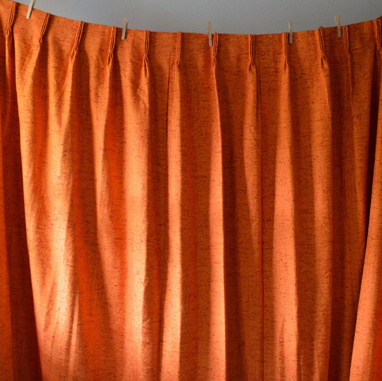 Vintage Drapes 1970's Sears Curtains Pleated Panel by EadoVintage