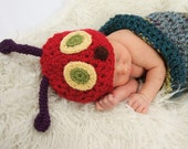 The Very Hungry Caterpillar Hat -Baby Hat  - Photo Prop - Caterpillar Baby Hat  -by JoJosBootique