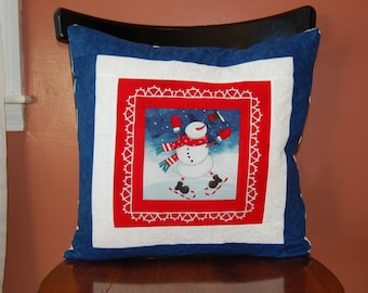 Snowman Pillow, Christmas Decor, Winter Decoration
