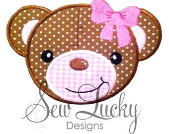 Teddy Bear Applique Design - Bear Applique - Baby Bear Applique - Bear Design - Machine Embroidery - Embroidery Design - INSTANT DOWNLOAD