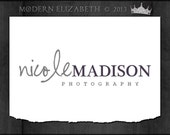 Premade Logo Design for Photography or Business Hand Drawn Custom Pre-made Logo, 2 Watermarks & Instructions (Nicole Madison)