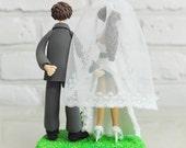 Wedding Cake Topper - Custom Cake Topper - Sensual Theme Topper - Funny Cake Topper -  Custom Wedding Cake Topper
