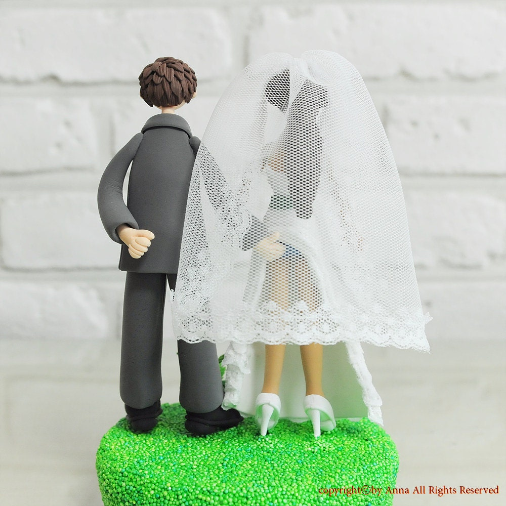 Wedding Cake Topper Custom Cake Topper Sensual Theme