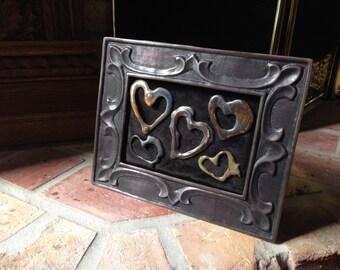 Captured Hearts porcelain heart arrangement