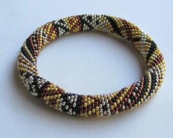Bead Crochet Bangle Pattern:  Penny Lane Sampler Bead Crochet Bangle Pattern