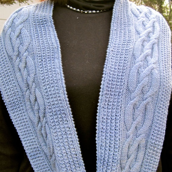 Cable Knit Infinity Scarf Knitting Pattern : Unavailable Listing on Etsy
