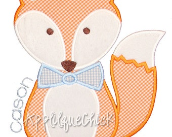 Fox Boy Applique Design