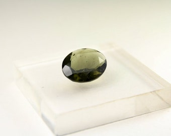 Facncy Green Oval Cut Faceted Moldavite Gemstone for Jewelry Design, by Arizona Wired Elegance