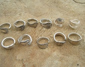 Antique Spoon Rings Lot of 11