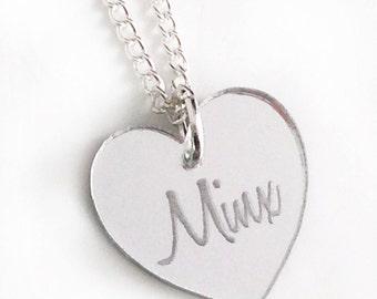 Minx Necklace - Silver Heart