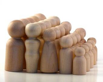 Twenty Families of Five - Paint Your Own Wood Dolls