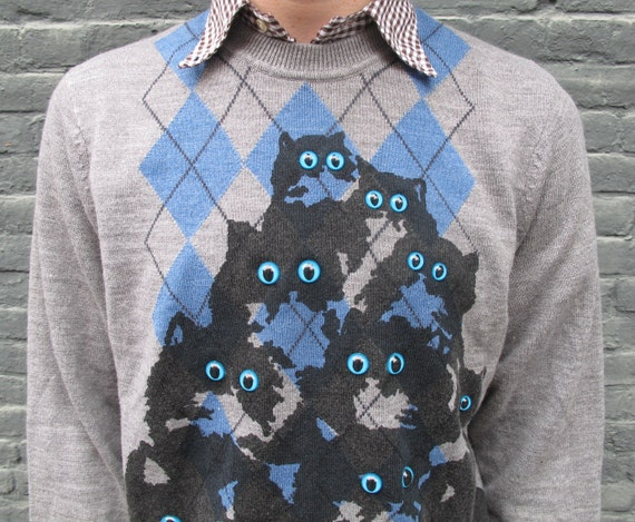 The Official Watson and Sherlock Crazy Cat Jumper