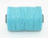 Waxed Irish Linen Thread Turquoise 4 Ply