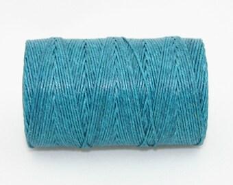 Waxed Irish Linen Thread Teal 7 Ply Waxed Thread