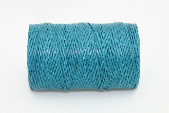 Waxed Irish Linen Thread Teal 7 Ply Waxed Thread
