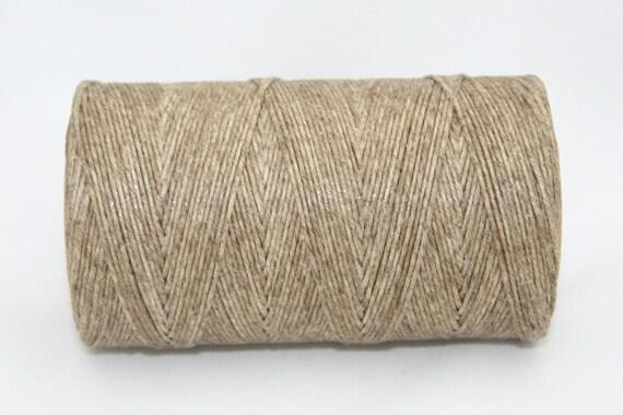 Waxed Irish Linen Thread Natural Sand 4 Ply