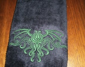 Cthulhu Crest Embroidered Hand Towel