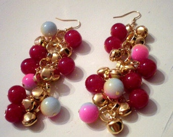Charm bell earrings/ready to ship