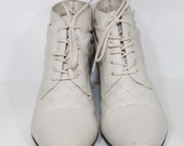 1980s  Tessa  Ankle Granny Booties Size 9B