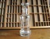 Etched Glass Decanter Bottle Vintage Barware