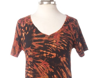 M Shibori V-Neck T Tiger