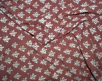 Bagh print  Indian summer cotton fabric - One yard