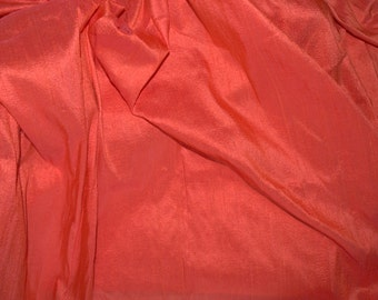 Silk Dupioni in  Saffron with pink shimmers,Fat Quarter, D - 229