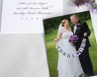 Photo Picture Wedding Photo Picture Thank You Notes Note Cards card notecards notecard
