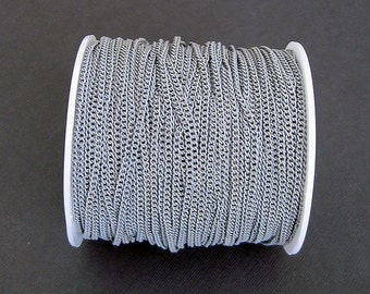 Gray Electroplated  Twist  Curbe Chain Colored Chain-15 ft.
